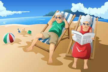 Senior couple enjoying their retirement