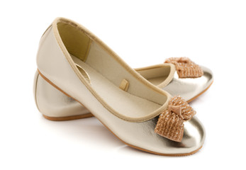 Fashionable youth ballet shoes.