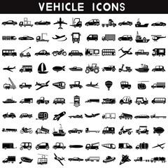 vehicle icons, transportation icons set, car set