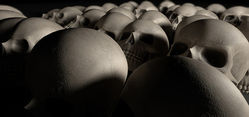 Skulls Array Perspective Dark