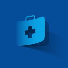 First Aid kit box, paper sticker