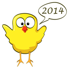 cartoon chicken wings up yellow 2014