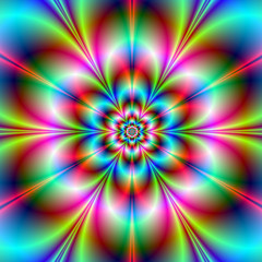 Poster Psychedelic Flower Power