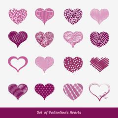 Set of Valentine's hearts