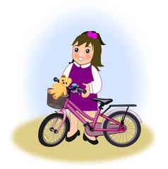 Little Girl with Bike
