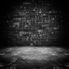 Grungy dark room background