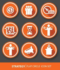 Strategy,Business buttons,Orange version,vector