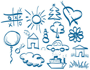 Hand drawing symbols set