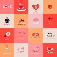 Happy valentines day cards. Vector