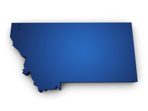 Map Of Montana 3d Shape