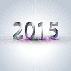 Happy new year 2015 celebration background.