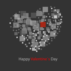 abstract background, square - heart
