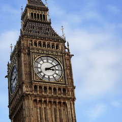 London Big Ben Clock Tower on the sky background