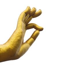 Statue hand of buddha