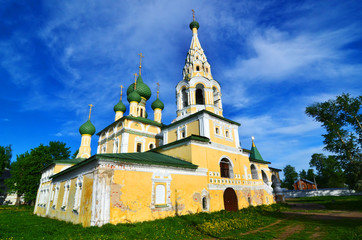Uglich, Russia. Church of St John the Baptist on the Volga