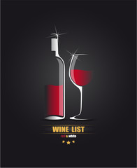 Vector sketch for the wine list.