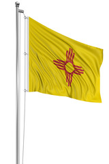 3D New Mexico Flag