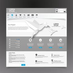Modern Website Template /Vector/