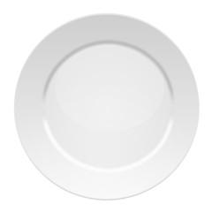 Vector illustration of blank white dinner plate