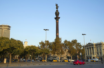 Barcelona. Statue of Columbus on the waterfront.