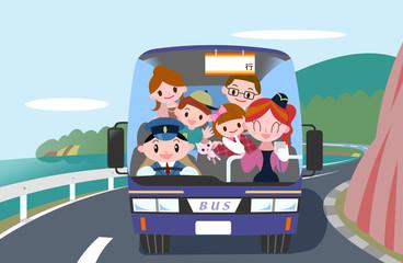家族でバスツアー