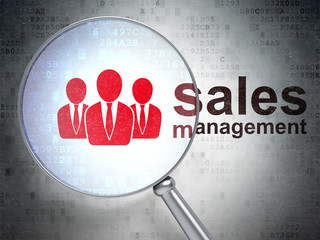 Marketing concept: Business People and Sales Management with