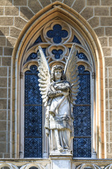 Gothic Angel Architecture Detail of Church