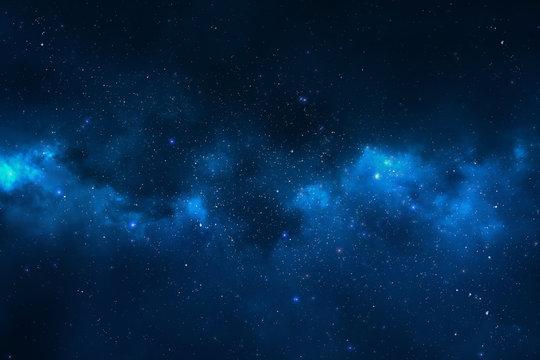 Night sky - Universe filled with stars, nebula and galaxy