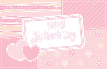 Happy Mother day Card. Vector illustration