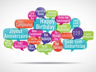 nuage de mots : joyeux anniversaire (multilangue) cs5