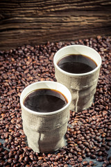 Fototapete - Freshly hot coffee for two