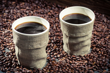 Wall Mural - Freshly brewed retro coffee