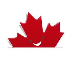 Funny maple leaf of Canadian flag