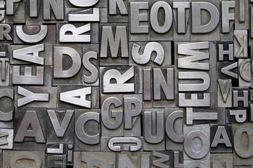 Metal Letterpress Type