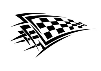 Tribal sport racing tattoo