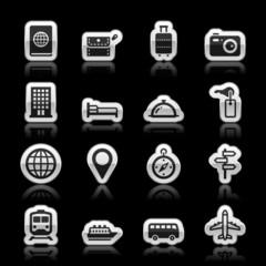 Travel icons, vector illustration