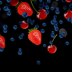 Vector illustration of fresh berries