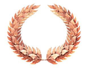 Bronze wreath of laurel leaves
