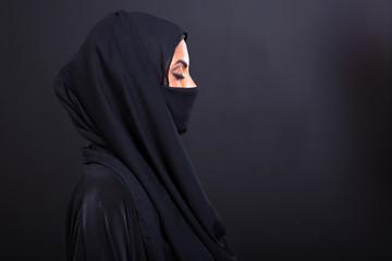 arabian woman with eyes closed