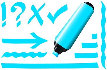 Fluorescent Marker Blue