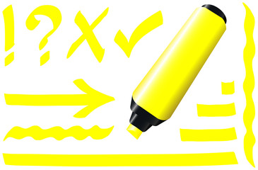 Fluorescent Marker Yellow