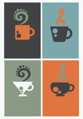 vector collection of coffee business cards