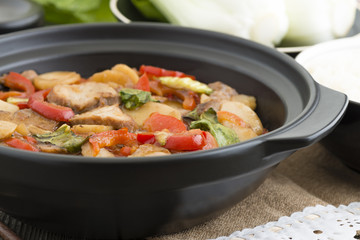 Pork Chop Suey - Chinese style pork and vegetables dish