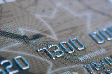 Close-up shot of creditcard number