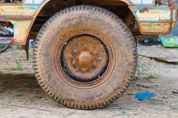 Dirty old wheel