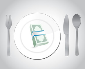restaurant money illustration design