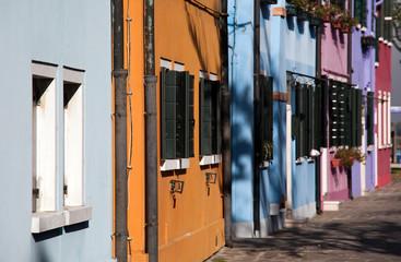 Burano houses colored facades