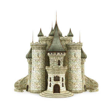 Castle, isolated on the white background