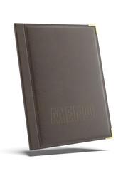 Brown leather Menu folder