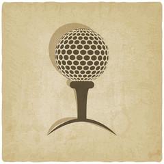 sport golf logo old background - vector illustration